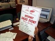Internet Sales Event Signage