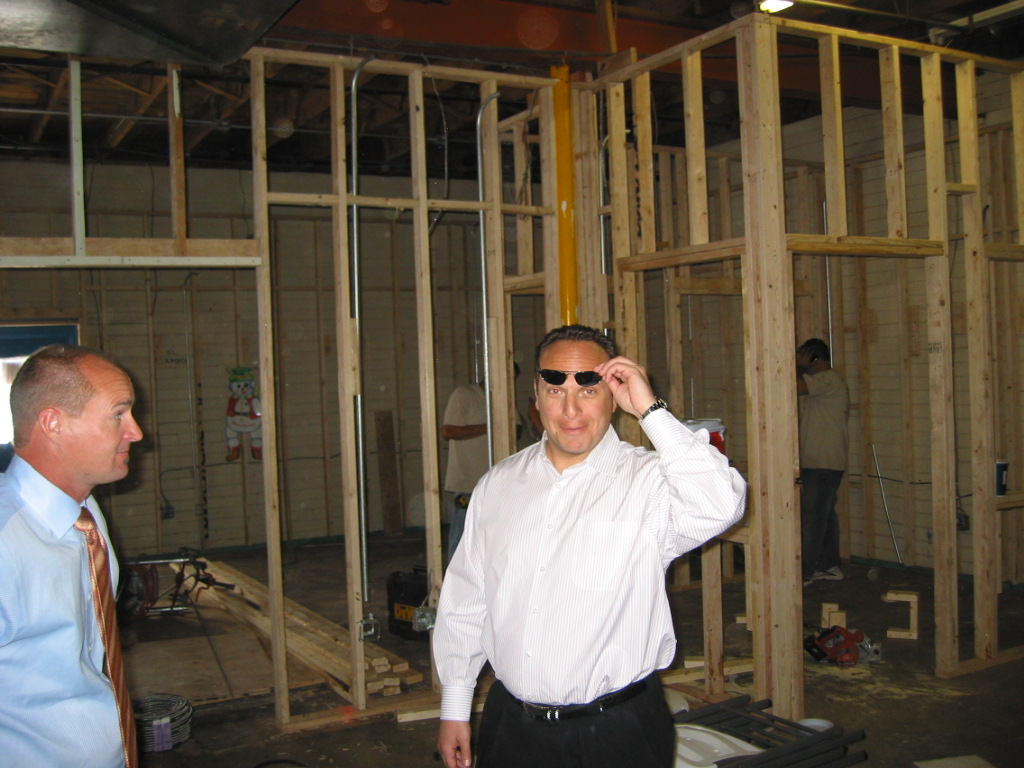 Aaron Bickart observes construction of new and expanded BDC at Courtesy Chevy in 2006