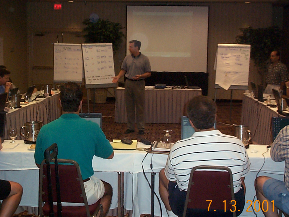 Bill Reilly facilitates consultant training