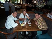 Jeff Nieves, Adrienne Reilly and Dennis Colome while working at Cyber Car in 2000