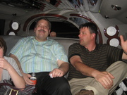 Ralph Paglia and Jon Groenig relax in the HomeNet Limo on way to The Blue Martini at Digital Dealer Conference - April 2008