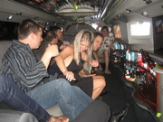 Jesse Biter's entourage parties it up in the HomeNet Limo returning to Gaylord Palms from The Blue Martini at Digital Dealer Conference - April 2008