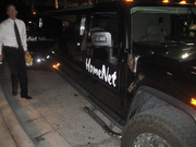 Driver of the HomeNet Limo prepares for leaving The Blue Martini at Digital Dealer Conference - April 2008