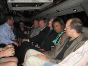 Conference Attendees relax in the HomeNet Limo on way to The Blue Martini at Digital Dealer Conference - April 2008