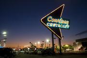 1957 Sign is Historical Landmark at Courtesy Chevrolet in Phoenix, AZ