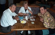 Jeff Nieves, Adrienne Reilly, Dennis Collome during TAS-CyberCar days in 2000