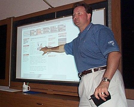 David Boice Makes A Point at TAS-Automark-CyberCar Training in Norfolk, VA in 2000