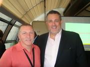 Mark Tewart with Jeffrey Hayzlett, VP and Marketing Director of Kodak