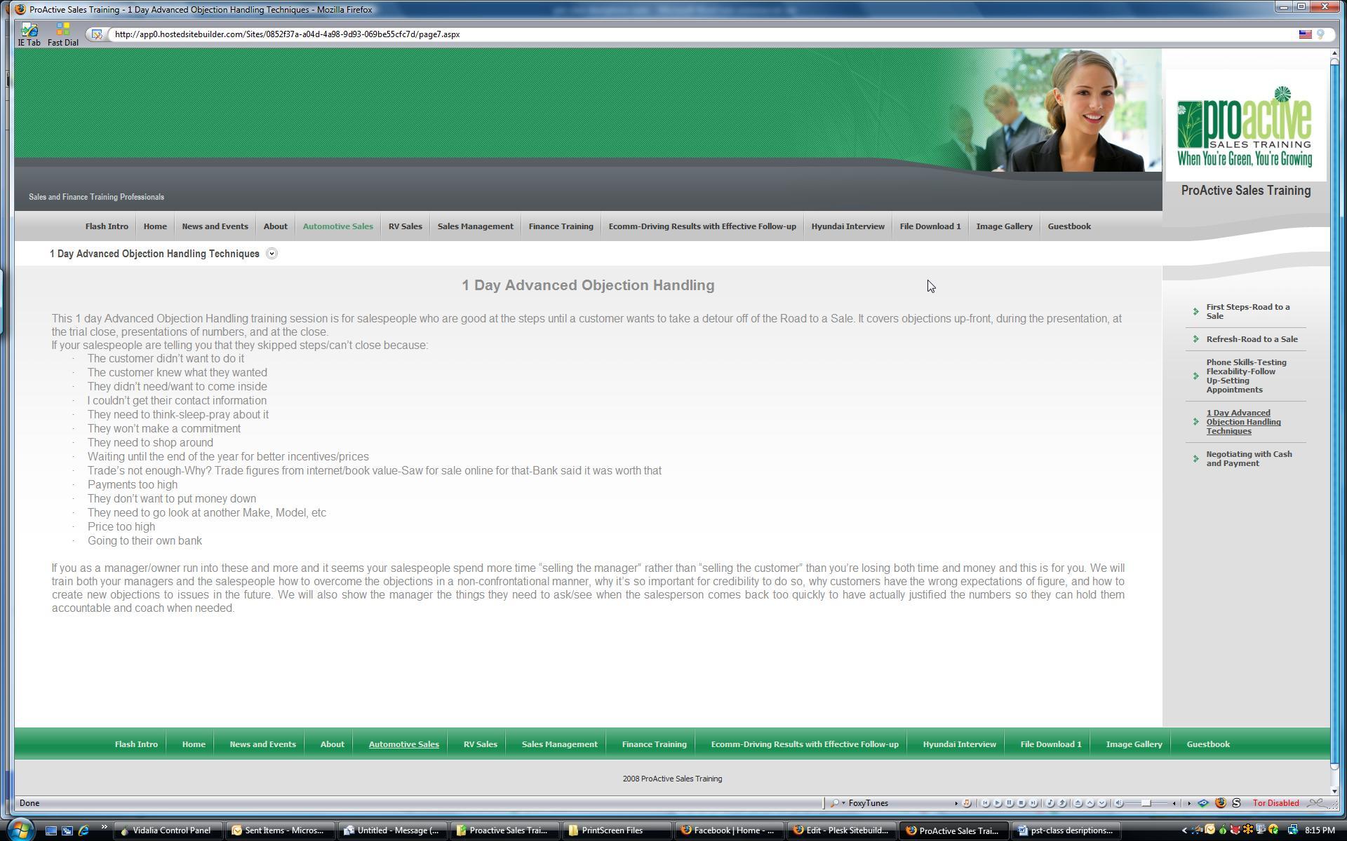 Website-1 day Adv Obj