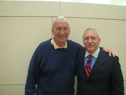 Mark Tewart with friend Gerry Faust, Ex Coach of Notre Dame
