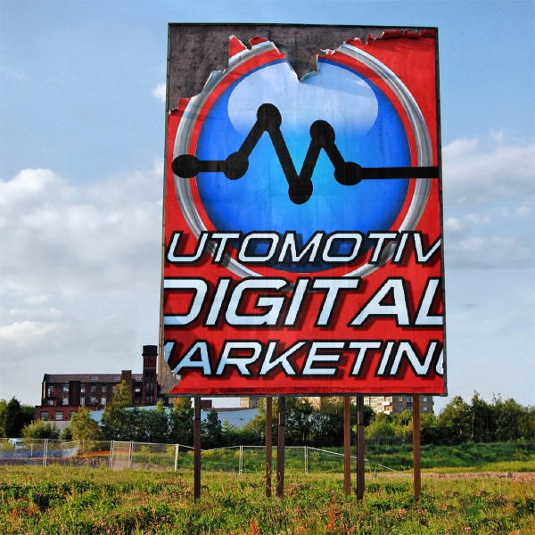 Winter takes its Toll on this ADM Outdoor Billboard