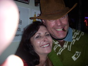 """""""Clint Eastwood"""" walks in another bar in Nashville on Halloween & this Lady went nuts!! -lol"""