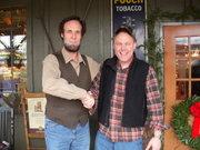 Ken meets Abe Lincoln at Cracker Barrel in Nashville!