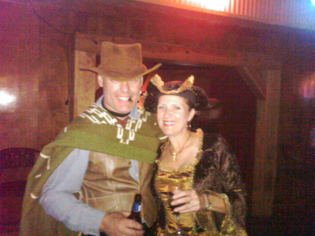 "Halloween at Digital Deal 7 in Nashville! Linda Kane meets ""Clint Eastwood""!"