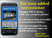 Douglas VW is Mobile for your added convenience!