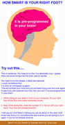 **Alright check this out! ** How smart is your right foot?? *Try this! *Click the pic below!