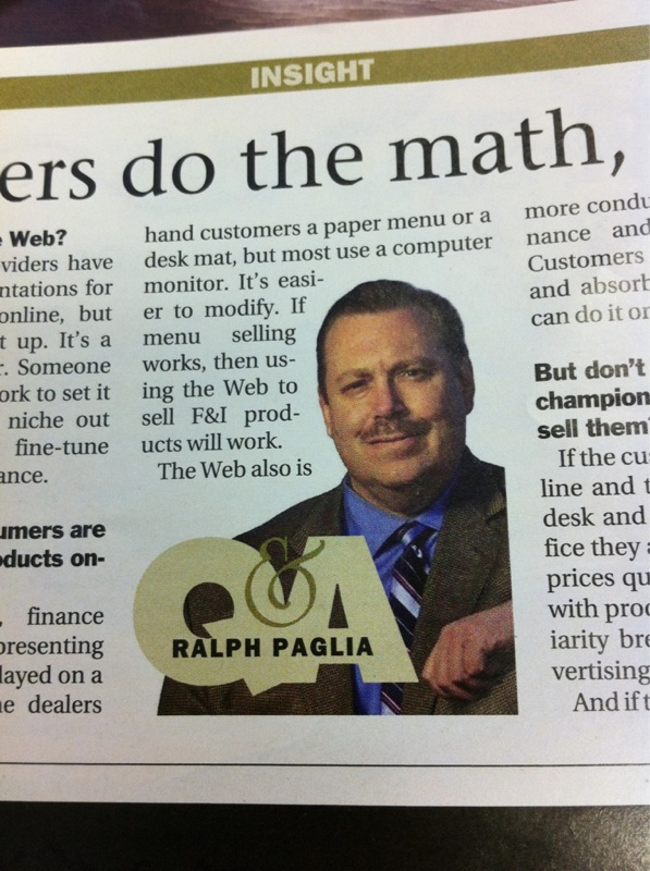 Ralph Paglia Featured in Automotive News Article