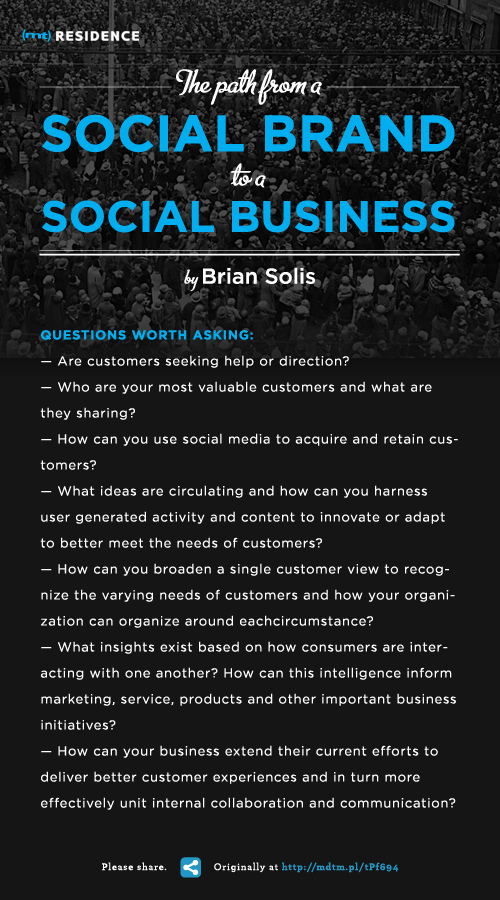 The Path From A Social Brand to a Social Business
