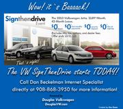 NJ-VW | Douglas VW in Summit NJ announces SignThenDrive Event begins TODAY!