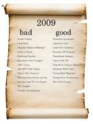 Auto Industry Good and Bad List for 2009