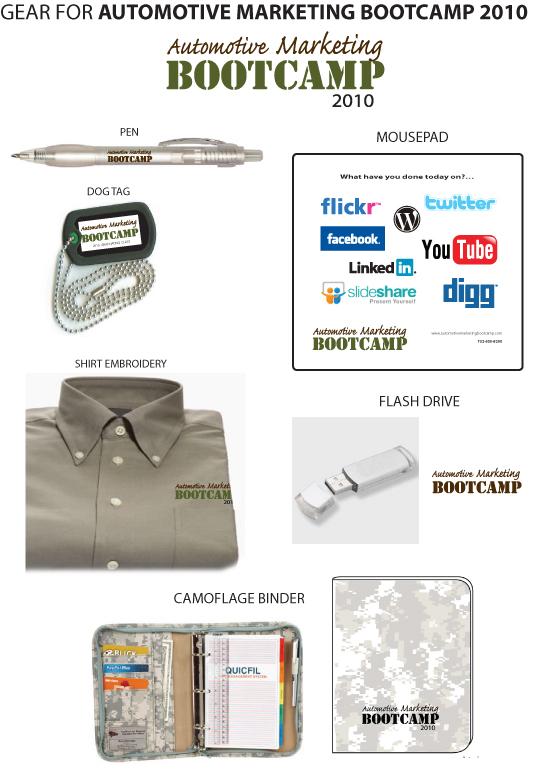 Automotive Marketing Boot Camp Gear