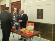 "Mark Tewart at Notre Dame Book SIgning for best sller ""How To Be A Sales Superstar"""