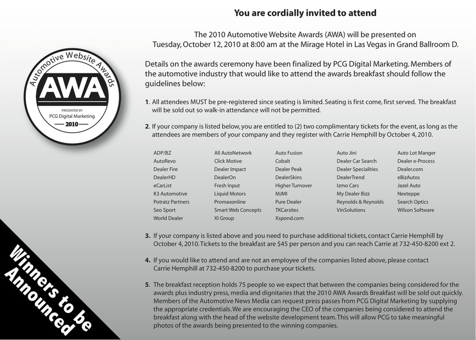 AWA Awards Breakfast