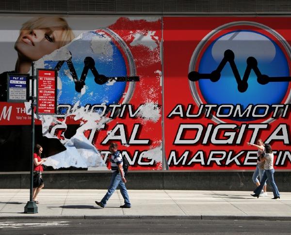 ADM Professional Community Logo on City Sidewalk
