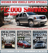 New Car Specials Page