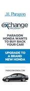 Paragon Honda Vehicle Exchange Program