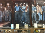 Painting of Coal Miners Inside I-79 Welcome Center Entering Pennsylvania from West Virginia