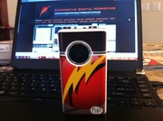 Custom Flip Cam Showcases ADM Logo