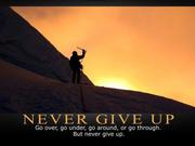 Never Give Up - Inspirational Image