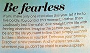 Be Fearless - New Year Resolution