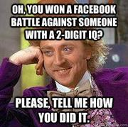 Willy Wonka Asks How You Won That Debate on Facebook