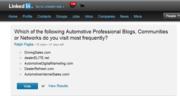 LinkedIn Survey of Auto Industry Pro Networks