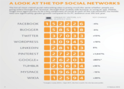 Top 10 Social Networks - Which went Up and Down in 2012