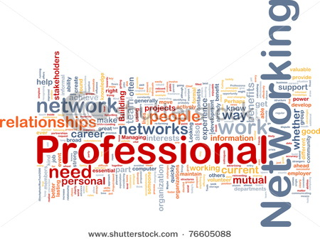 wordcloud illustration of professional networking
