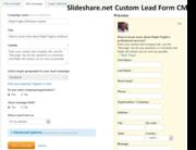 Slideshare Custom Lead Form App - Ralph Paglia