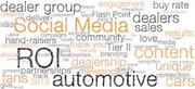 social media for car dealers word cloud