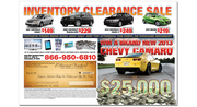 Chevy Dealer Direct Mail Inside Spread