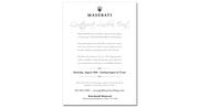 Maserati Event Mailer