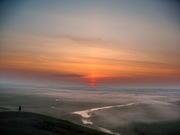 Аркаим, восход с горы Шаманка