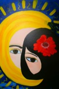 """Солнце и Луна"", картина для Азиза и Альмины, 10.09.12 холст 50х60, акрил"