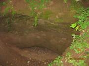 Вход в пещеру у источника св. Трифона Вятского..