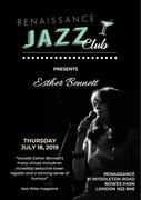 Renaissance Jazz club present- Esther Bennett-vocals with Tim Lampthorn-Piano
