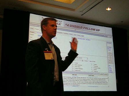 Darin Wade from Rich Ford at ENG Automotive CRM Conference in Costa Mesa, CA on August 13 and 14, 2008