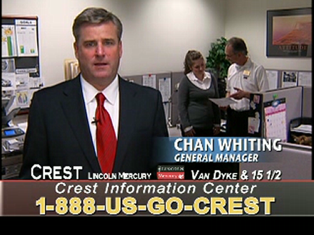 Crest Lincoln Mercury Customer Information Center (BDC) handles both phone and web based inquiries.