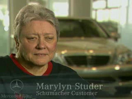 Schumacher European Mercedes-Benz Customer Testimonial from Marylyn Studer