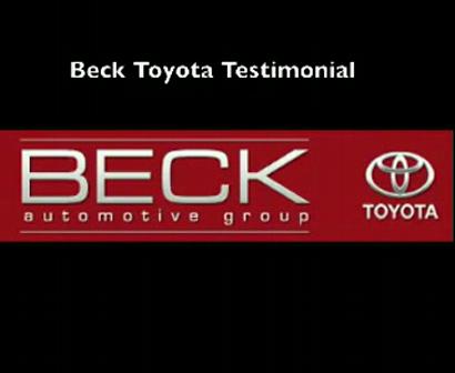 Reputation Management; Beck Toyota Customer Testimonial Video
